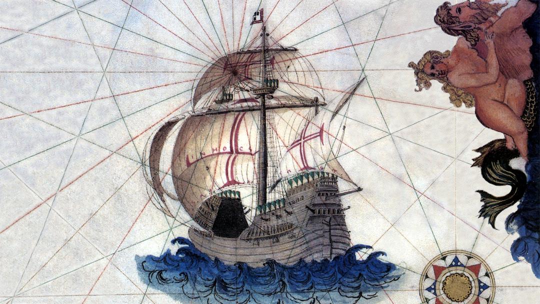 Afbeelding van een Portugese Kraak (1565)