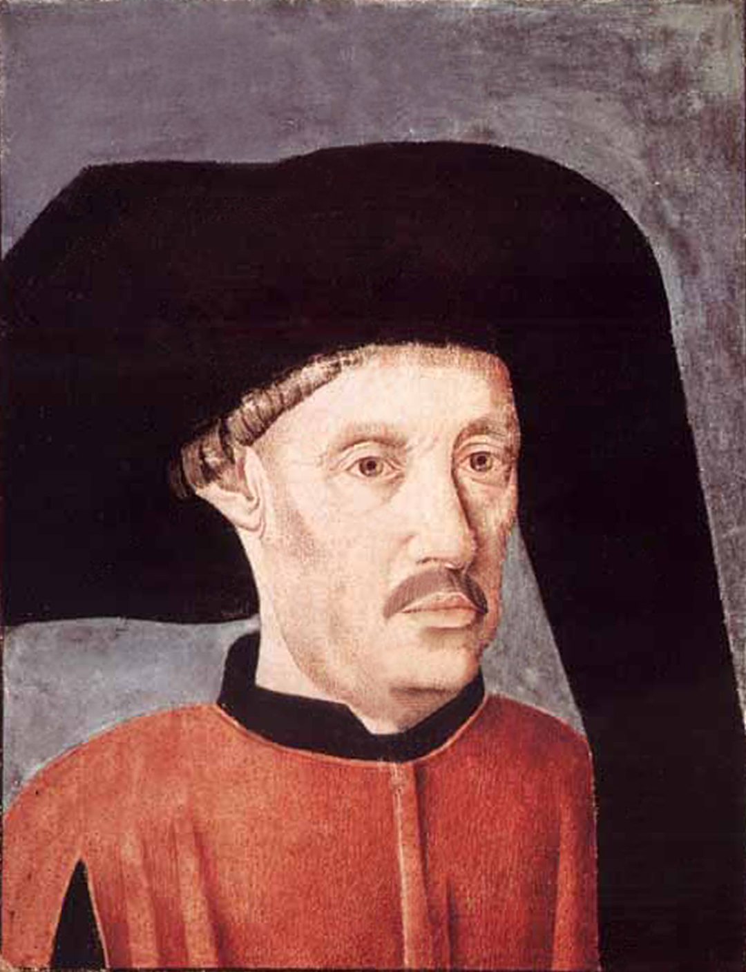 "Portret van Prins Hendrik de Zeevaarder (digitaal bijgewerkt) op het voorblad van het boek ""Crónicas dos Feitos de Guiné"" door Gomes Eanes de Zurara in 1453. Nu in de Bibliothèque nationale de Paris. Bron: https://commons.wikimedia.org/wiki/File:Henry_the_Navigator_(Cronicas).jpg"
