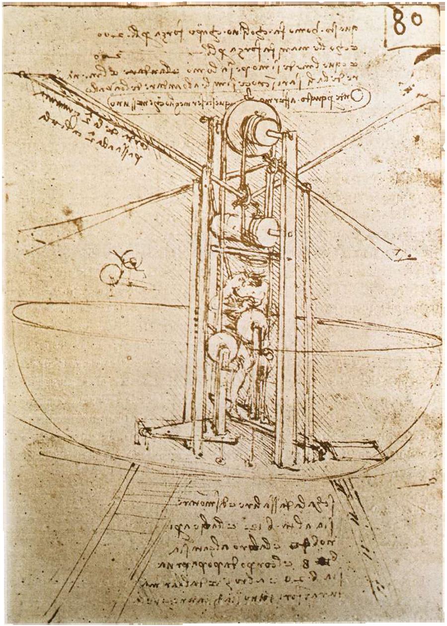 Ontwerp voor een vliegmachine door Leonardo da Vinci