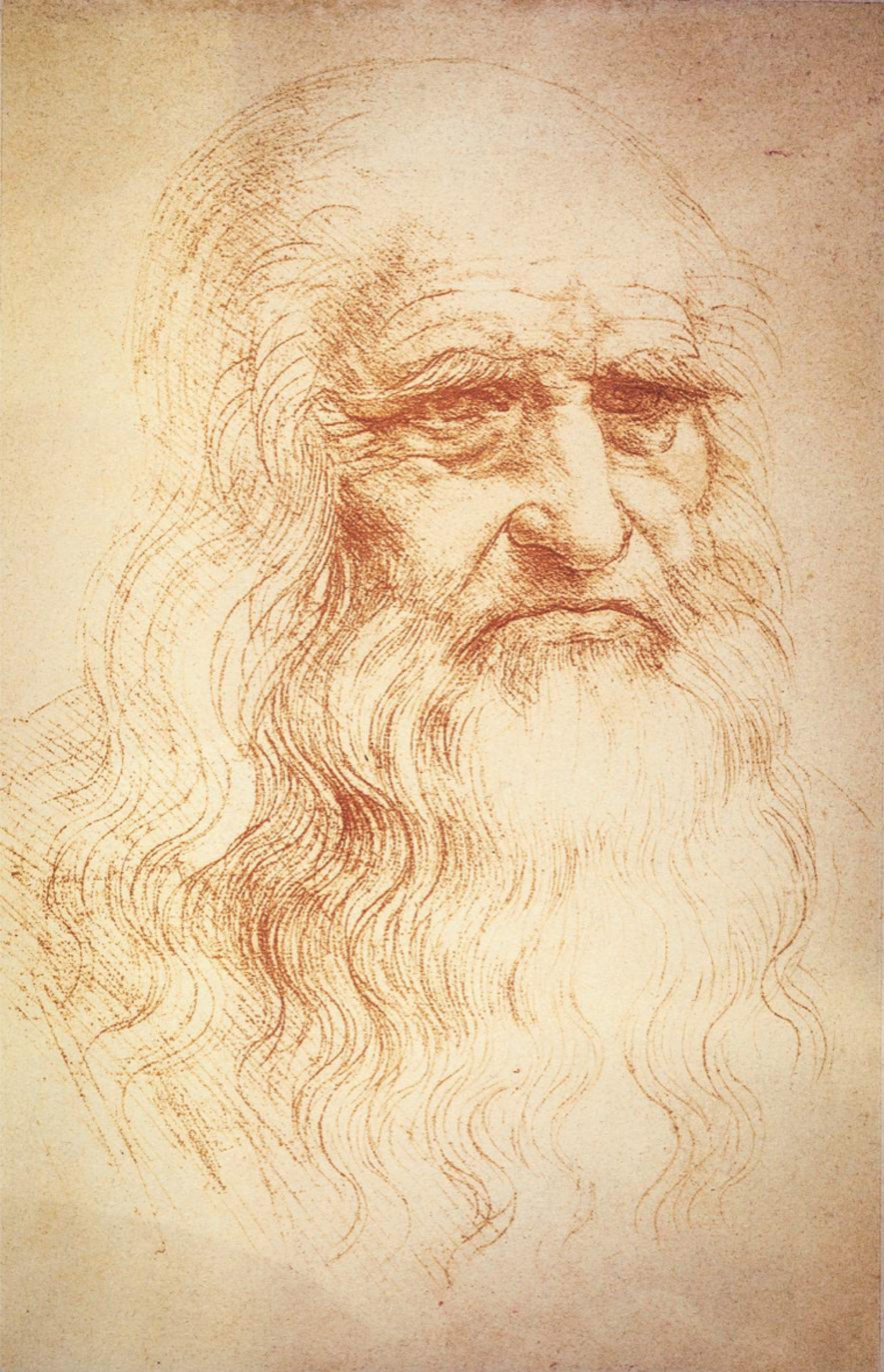 Zelfportret van Leonardo da Vinci