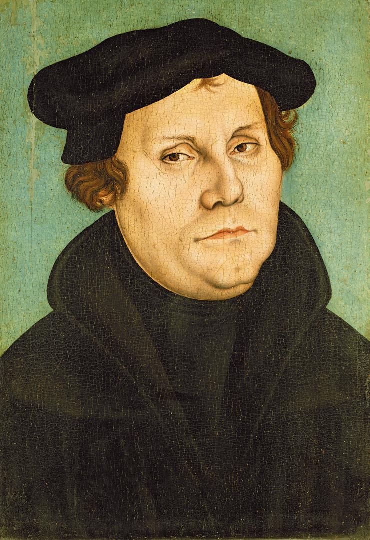 Maarten Luther door het atelier van Lucas Cranach de Oude (1529), Lutherhaus Wittenberg