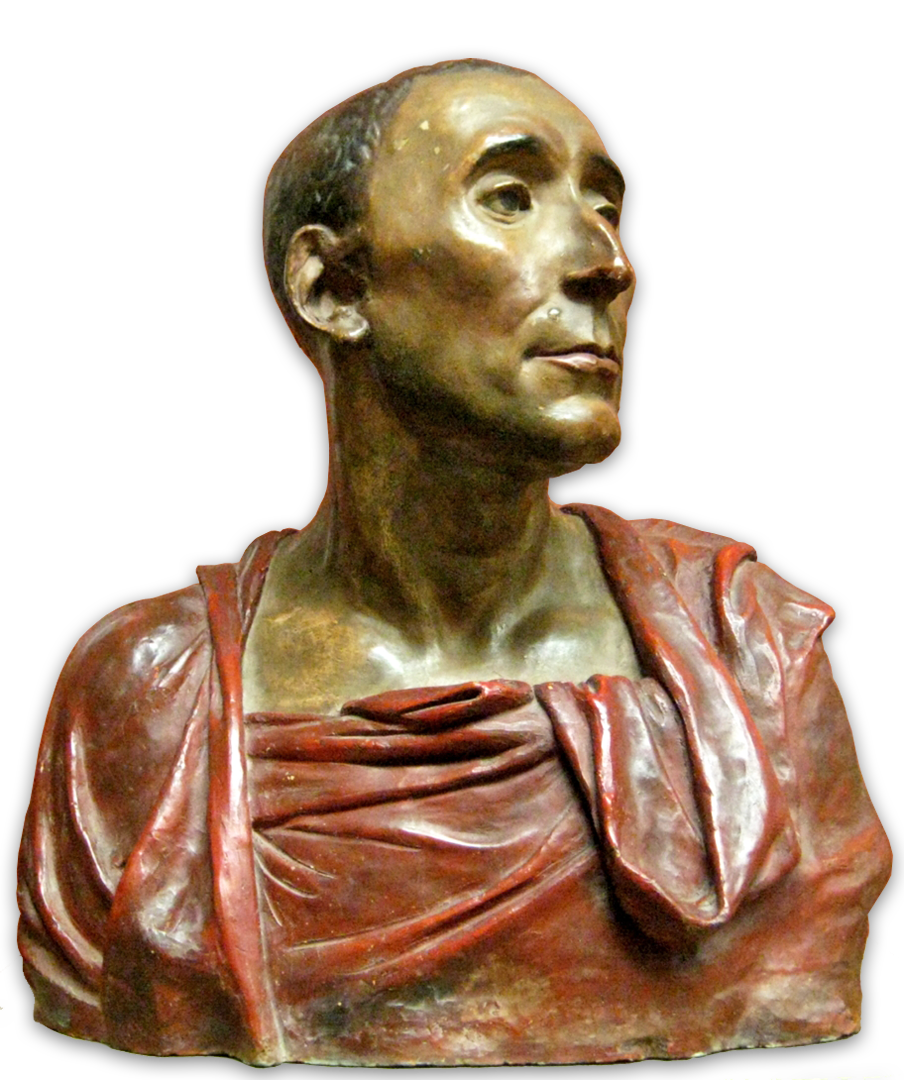 Buste van Niccolo da Uzzano door Donatello (ca 1430) - Afgietsel van het origineel in het Museo Nazionale del Bargello, Florence, Italy - bron: https://commons.wikimedia.org/wiki/File:Niccolo_da_Uzzano_by_Donatello_-_cast.jpg