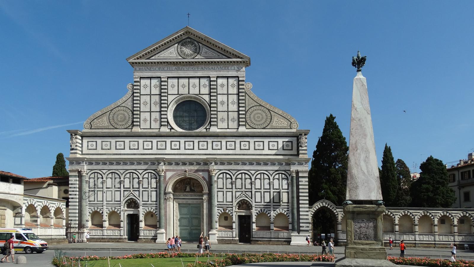 De Basilica di Santa Maria Novella door Leon Battista Alberti (Firenze)