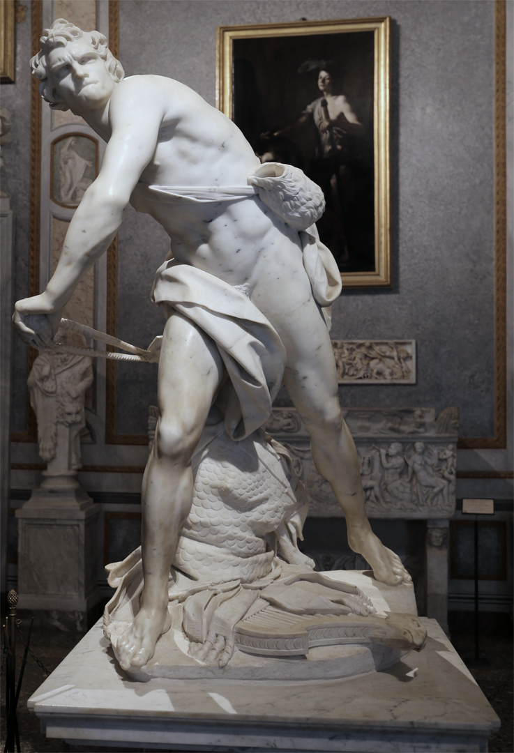 David door Bernini (ca. 1623), Galleria Borghese, Rome. Foto Sailko