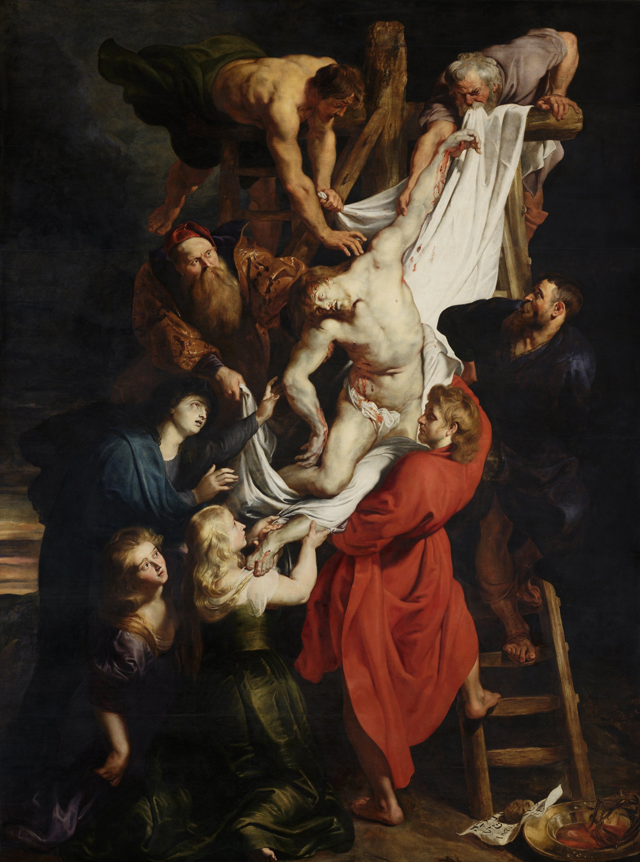 Kruisafname door Peter Paul Rubens (ca. 1612 - 1614), OLV kathedraal, Antwerpen.