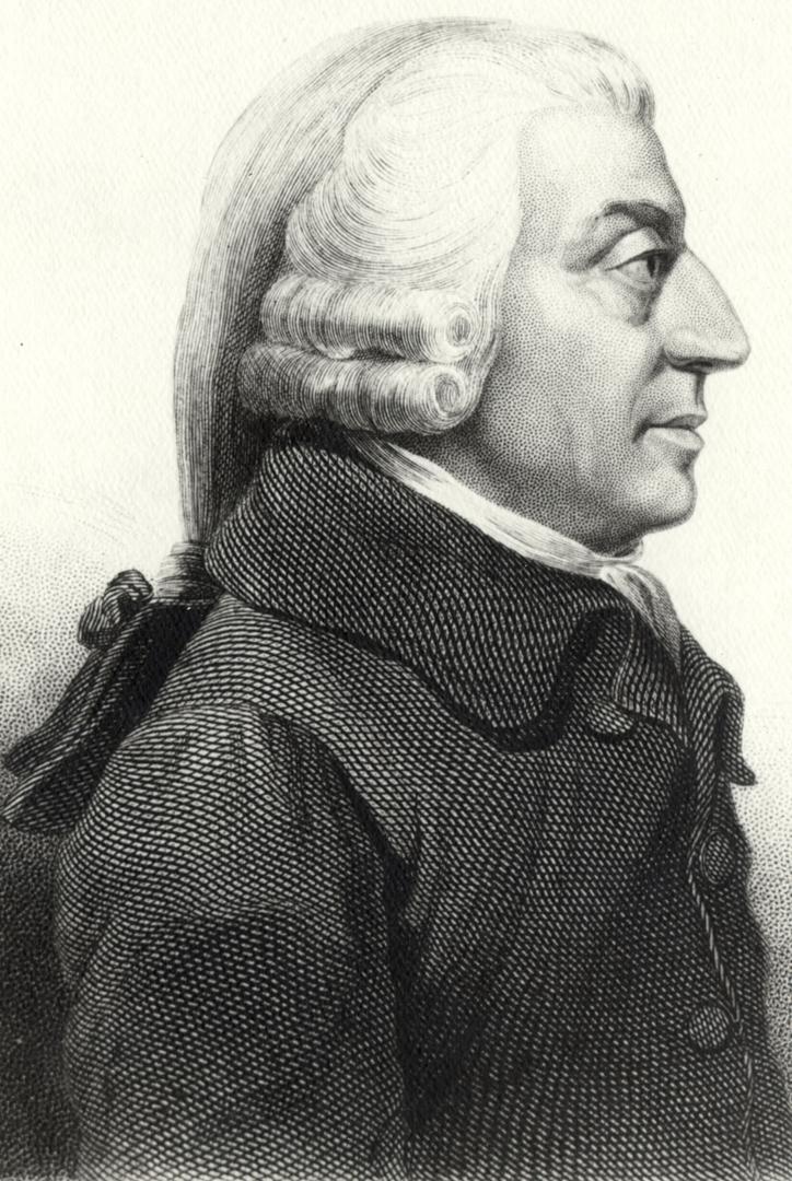 Portret van Adam Smith naar een schilderij van James Tassie (1787), Harvard University