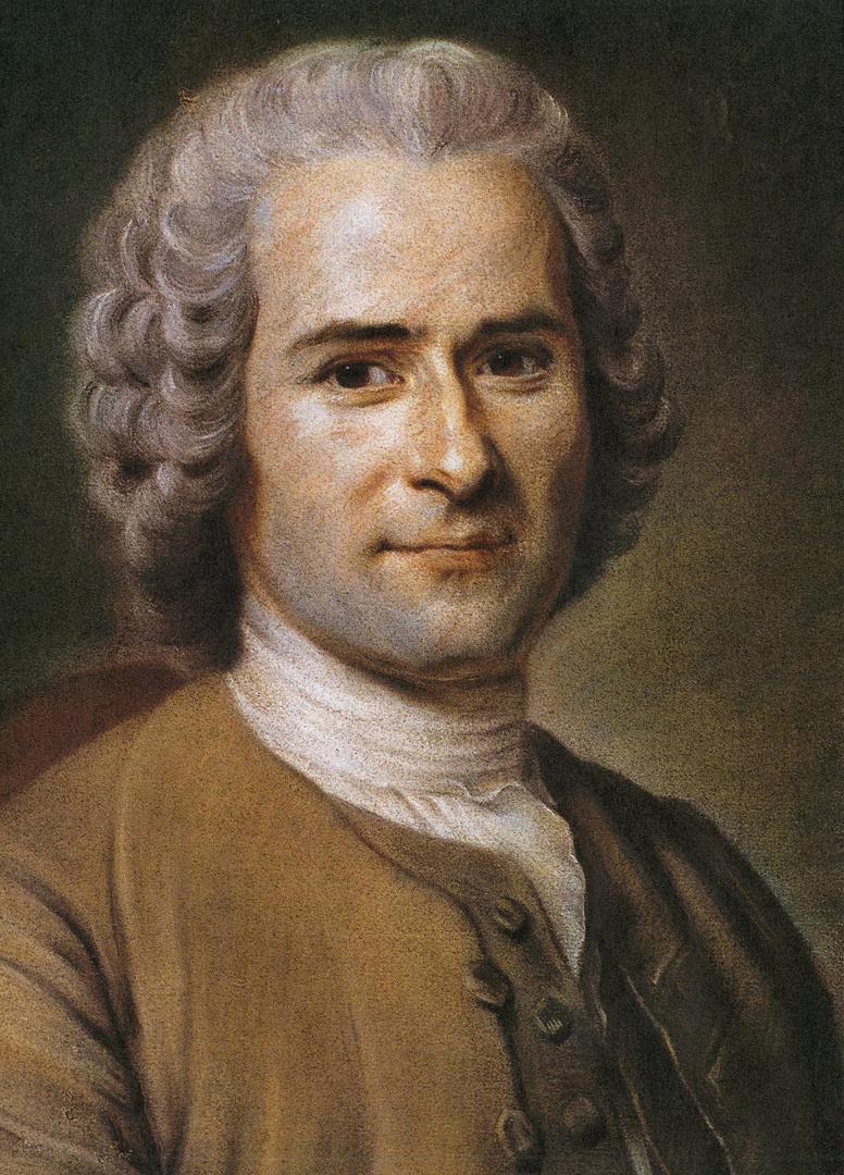 Portret van Jean-Jacques Rousseau door Maurice Quentin de La Tour (eind 18de eeuw), Musée Antoine Lécuyer, Saint-Quentin, France