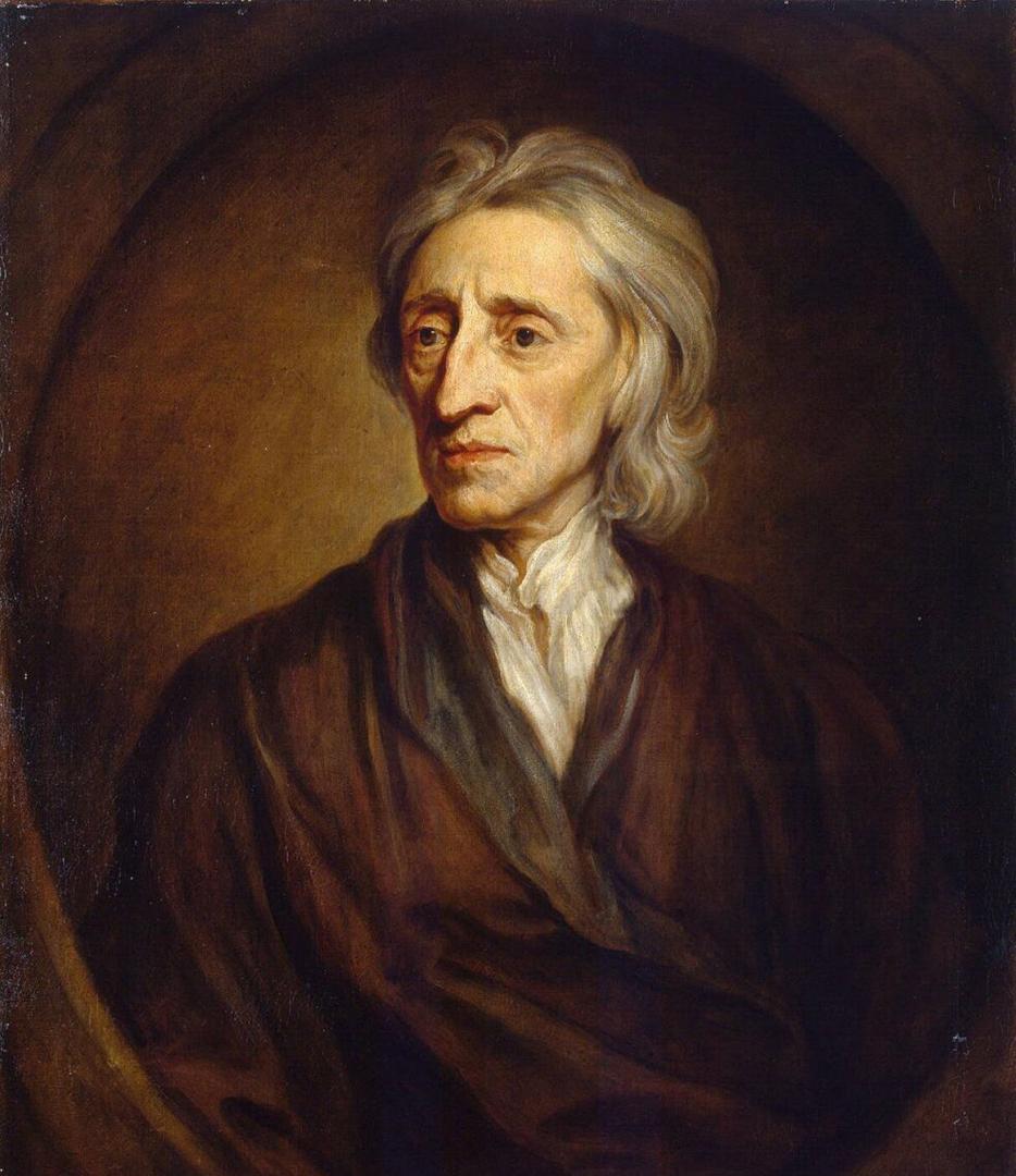 Portret van John Locke door Godfrey Kneller (1697), Hermitage Museum, Sint Petersburg, Rusland