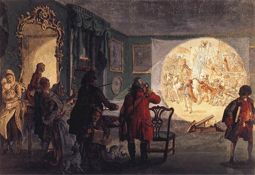 The Laterna Magica door Paul Sandby (ca. 1760) British Museum, London