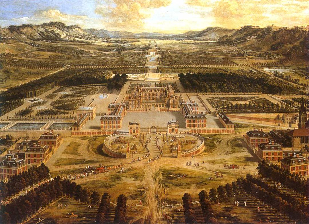 Schilderij van Versailles door Pierre Patel (ca 1668), Château de Versailles.