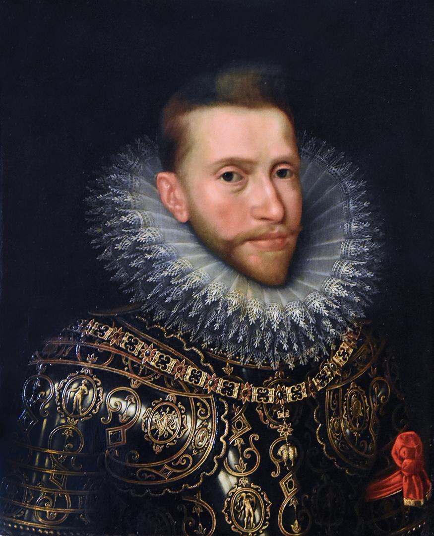Portret van aartshertog Albrecht door (het atelier van) Frans Pourbus de Jongere (ca. 1600) Noordbrabants Museum 's Hertogenbosch