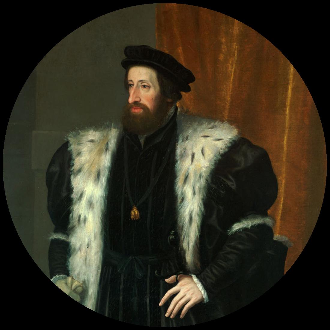 Portret van Keizer Ferdinand I door Hans Bocksberger de Oudere naar een schilderij van Jakob Seisenegger (midden 16de eeuw), Kunsthistorisches Museum, Wenen, Oostenrijk