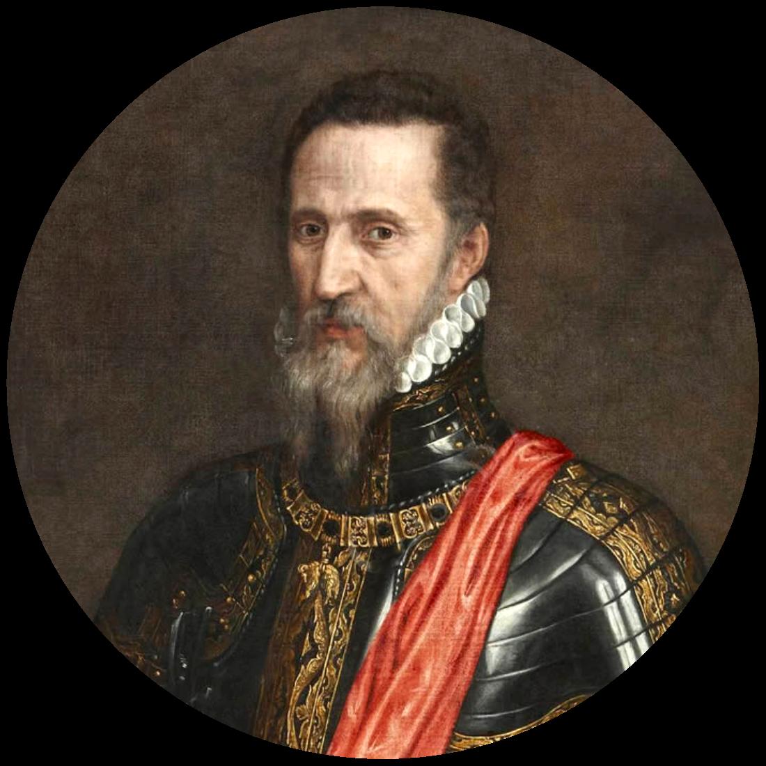 Portret van Fernando Álvarez de Toledo, de Hertog van Alva door Antonis Mor (1549), Liria Palace, Madrid. Bron:  https://commons.wikimedia.org/wiki/File:Fernando_Álvarez_de_Toledo,_III_Duque_de_Alba,_por_Antonio_Moro.jpg