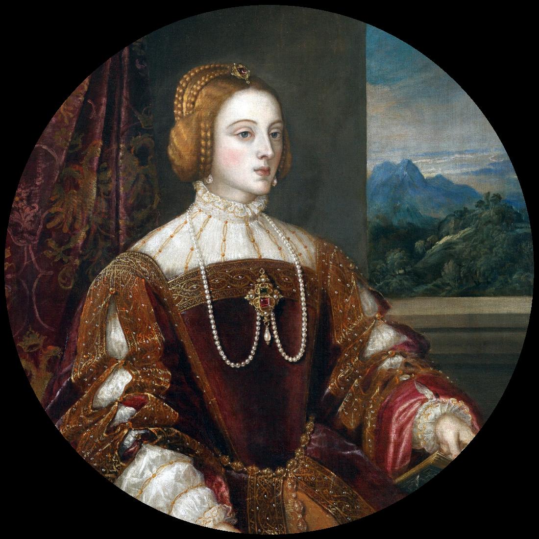 Portret van Isabella van Portugal door Titiaan (1548), Prado museum, Madrid, Spanje