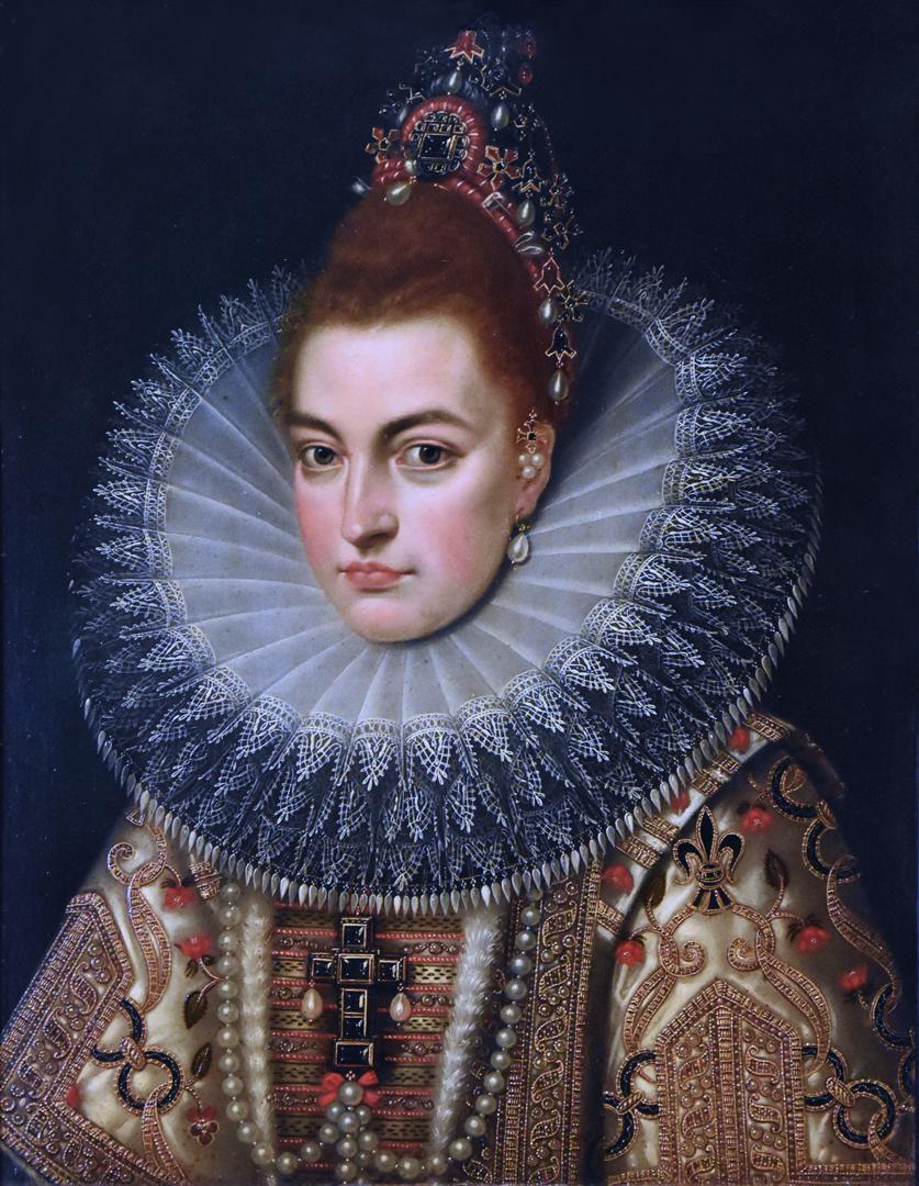 Portret van aartshertogin Isabella door (het atelier van) Frans Pourbus de Jongere (ca. 1600) Noordbrabants Museum 's Hertogenbosch