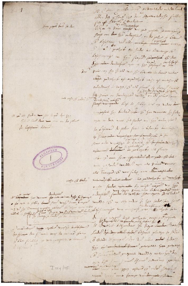Eerste blad van het 'Plakaat van Verlatinghe' waarmee de Verenigde Provincieën zich onafhankelijk van Spanje verklaarden (1581), Nationaal Nederlands Archief van de Staten-Generaal