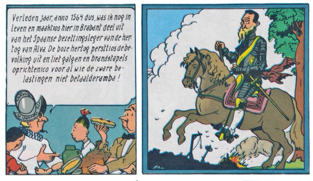 """Fragment uit het album """"Het Spaanse Spook"""" uit de reeks Suske & Wiske van Willy Vandersteen"""